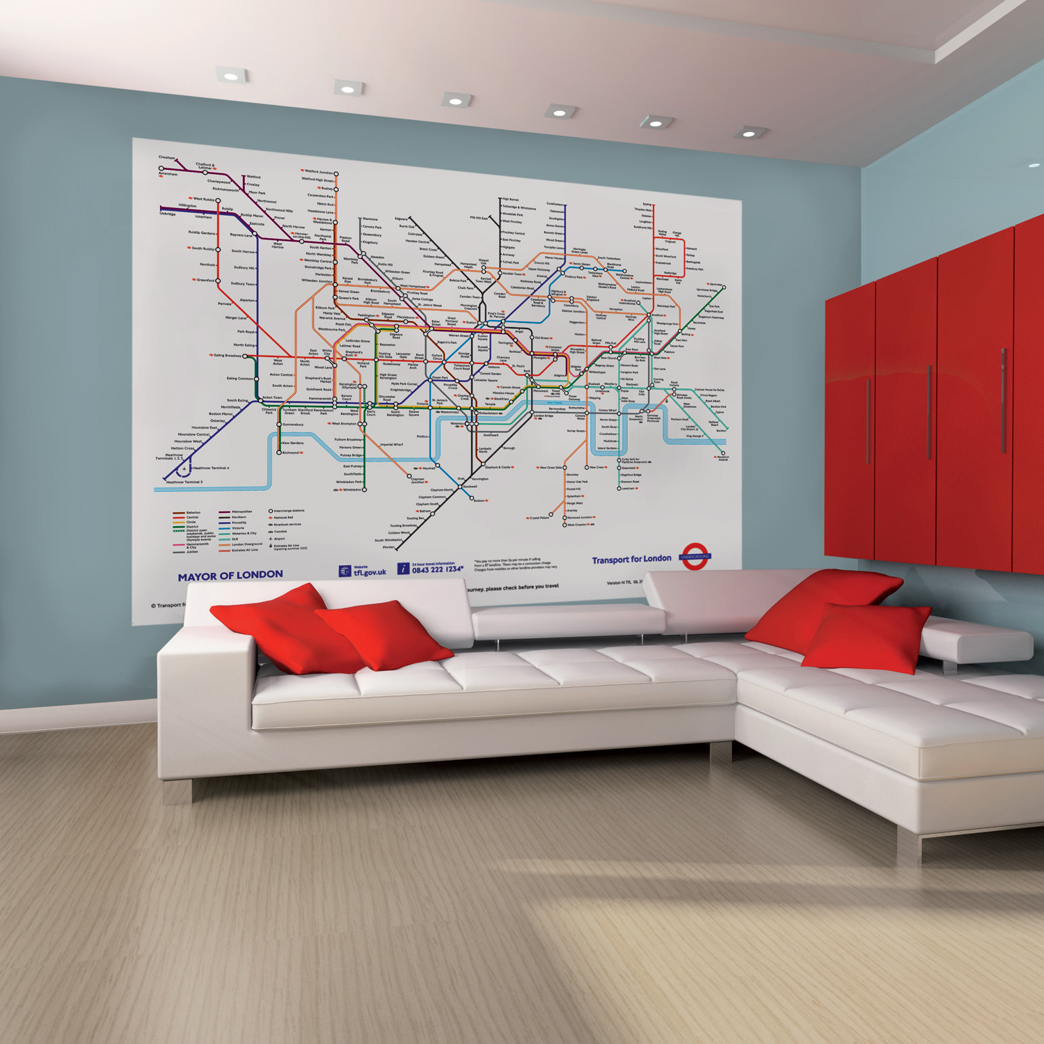 London Subway Map 1 Wall Murals Touch Of Modern