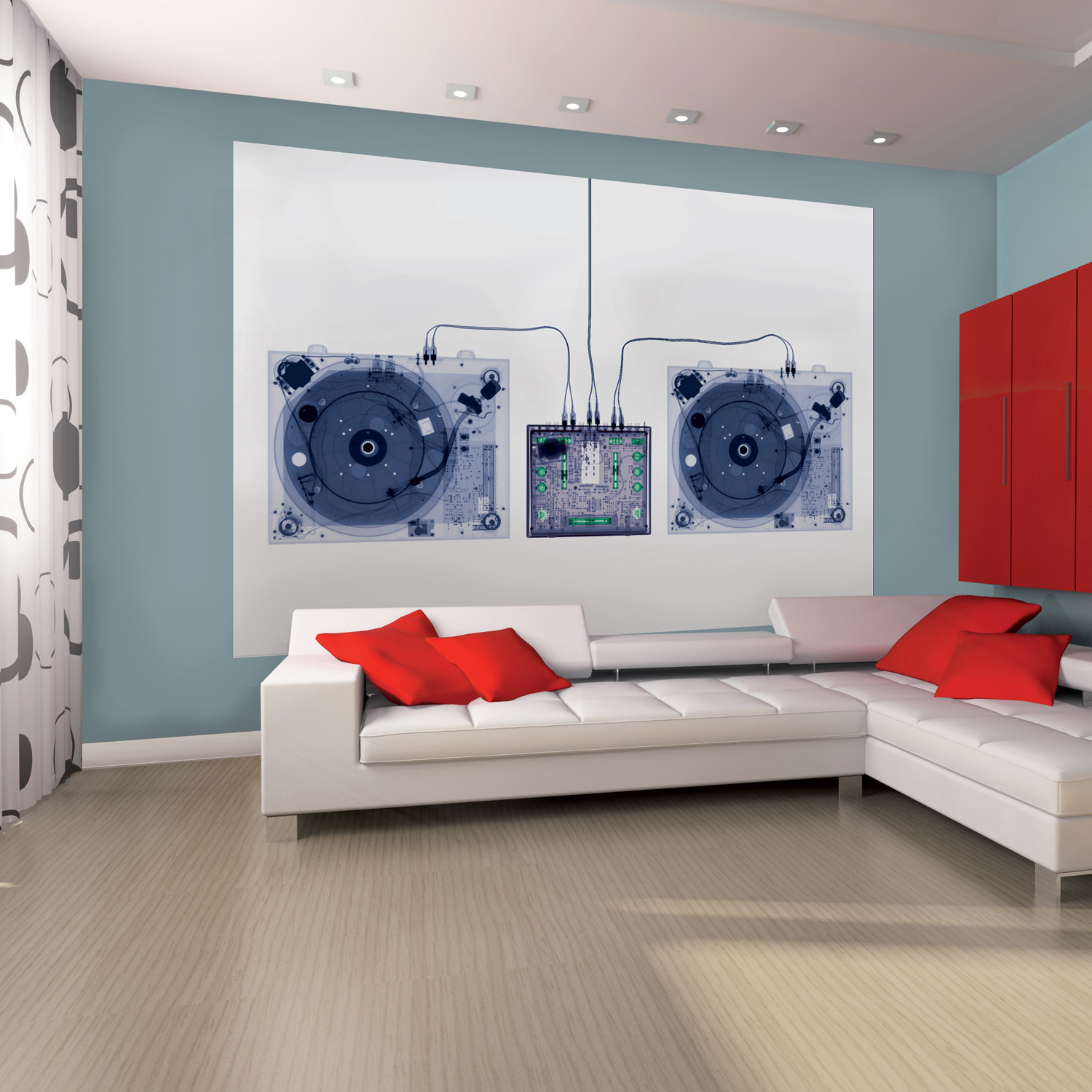 1 wall murals architectural wall decals touch of modern x ray dj decks