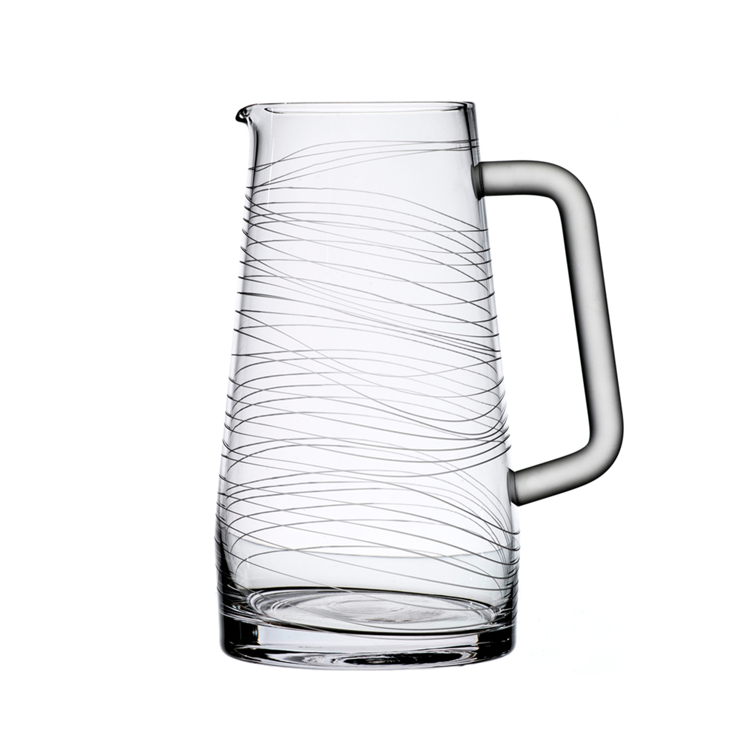 Dune Collection 50 oz Crystal Water Pitcher - Bomma Crystal - Touch