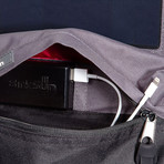 Boost Solar Backpack // Black + Red