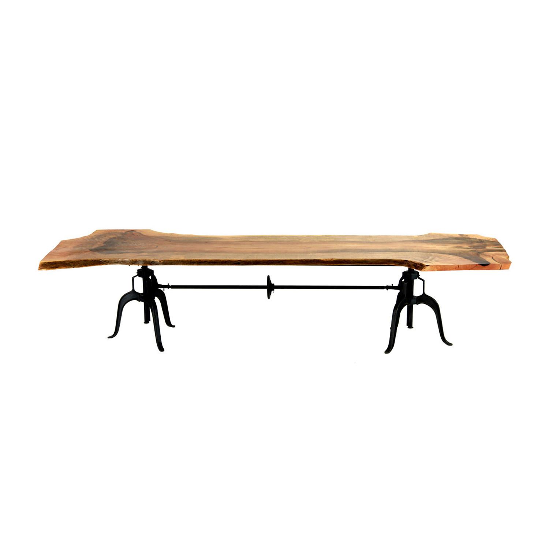 mendocino live edge communal dining table - crash industrial