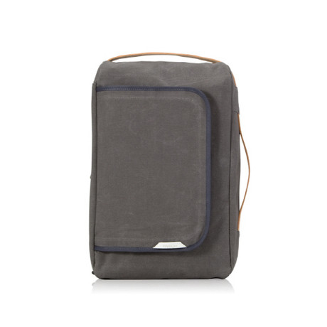 Signature Laptop Backpack 100 // Waxed Canvas (Charcoal)