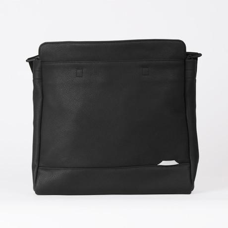 Slim Laptop Shoulder Bag 121 // Synthetic Leather (Black)