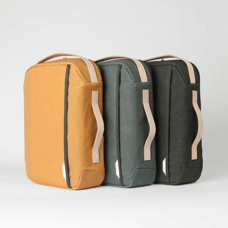 Rounded Laptop Backpack 110 // Waxed Kodra Nylon (Black)
