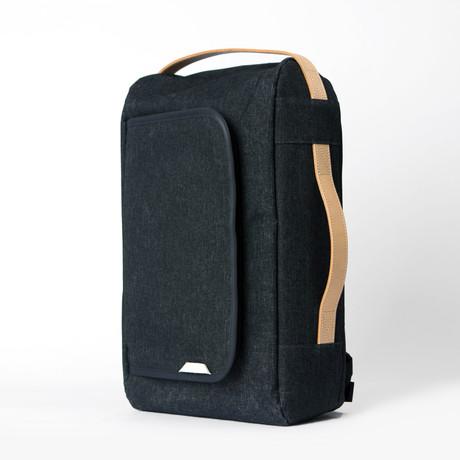 Signature Laptop Backpack 101 // Waxed Kodra Nylon (Black)