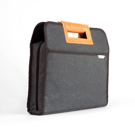 Urban Briefcase 110 // Waxed Kodra Nylon (Charcoal)