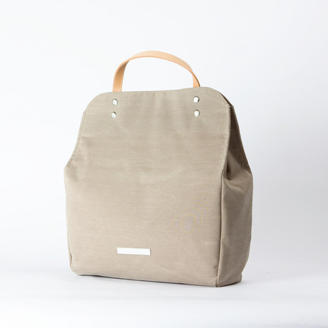 R Tote 110 // Wax Chambray (Beige)