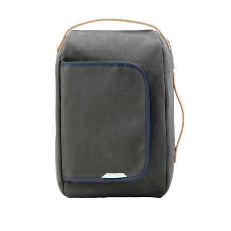 Mini Signature Convertible Laptop Backpack 200 // Waxed Canvas (Charcoal)