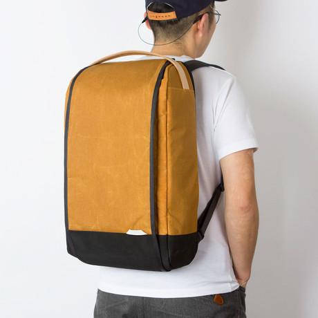 Urban Explorer Backpack 302 // Waxed Kodra Nylon // Large (Mustard)