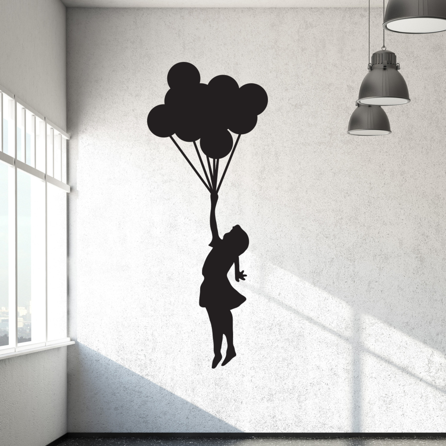 banksy balloon girl walls need love touch of modern. Black Bedroom Furniture Sets. Home Design Ideas