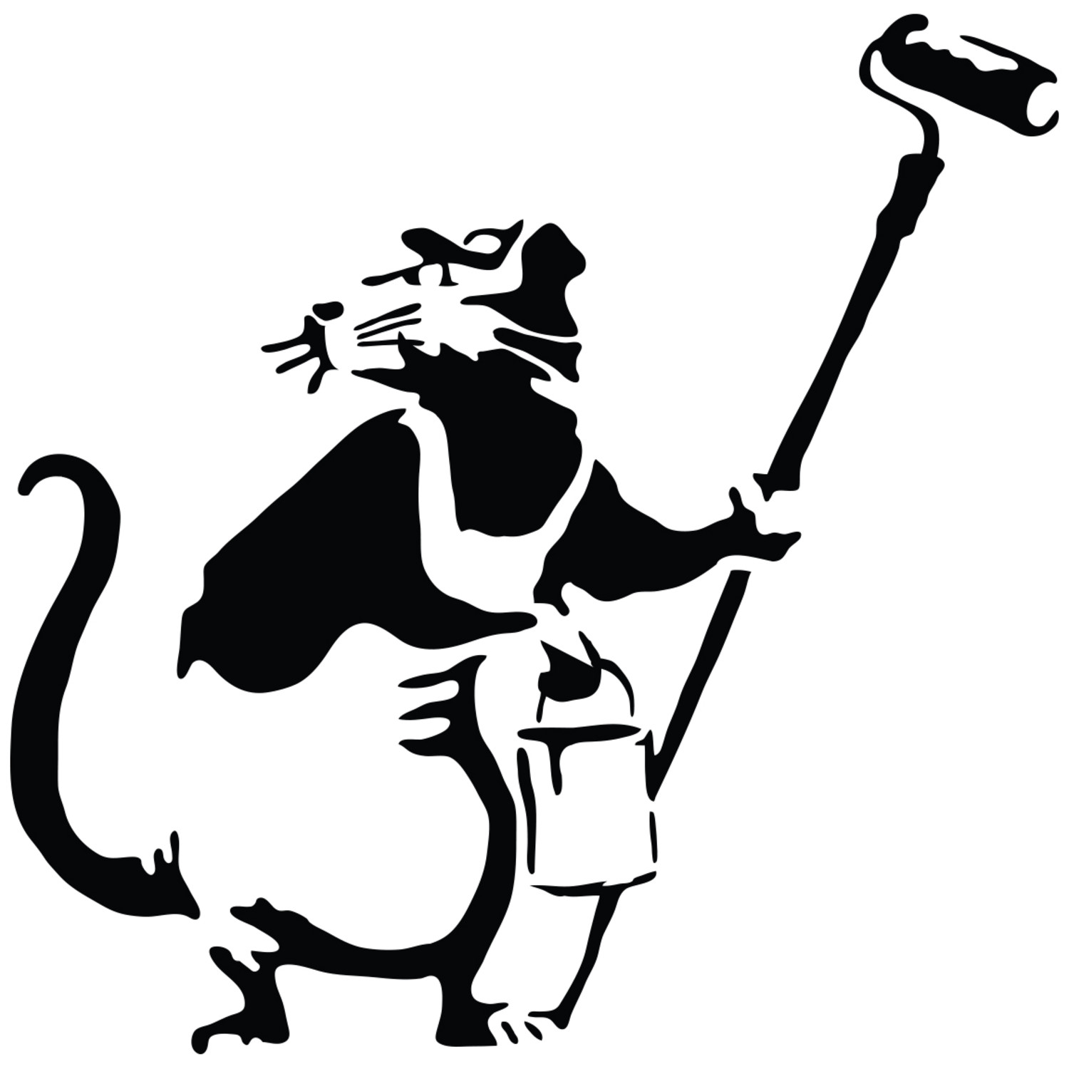 Banksy Rat Painter Walls Need Love Touch Of Modern