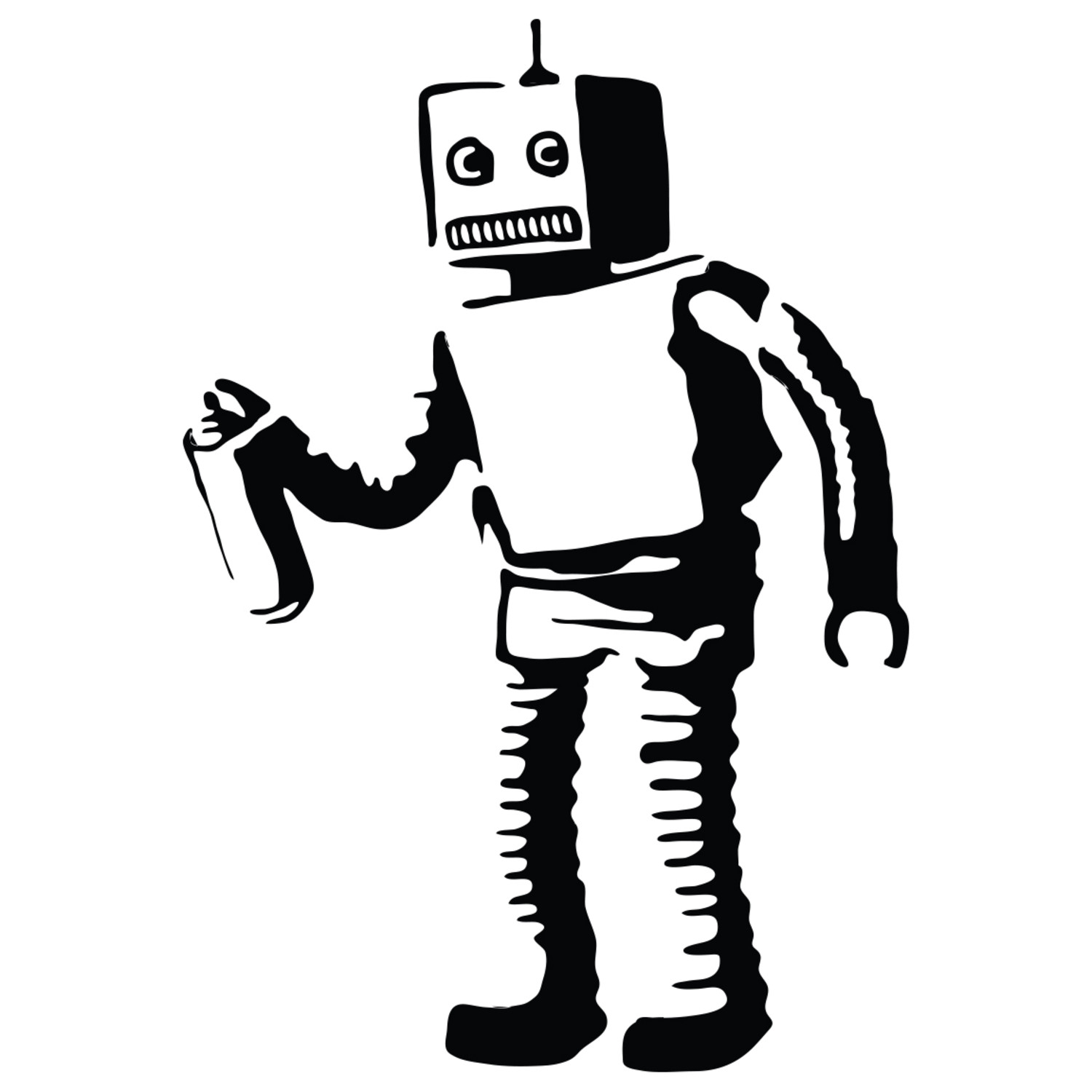 Graffiti Stickers For Walls Banksy Robot Walls Need Love Touch Of Modern