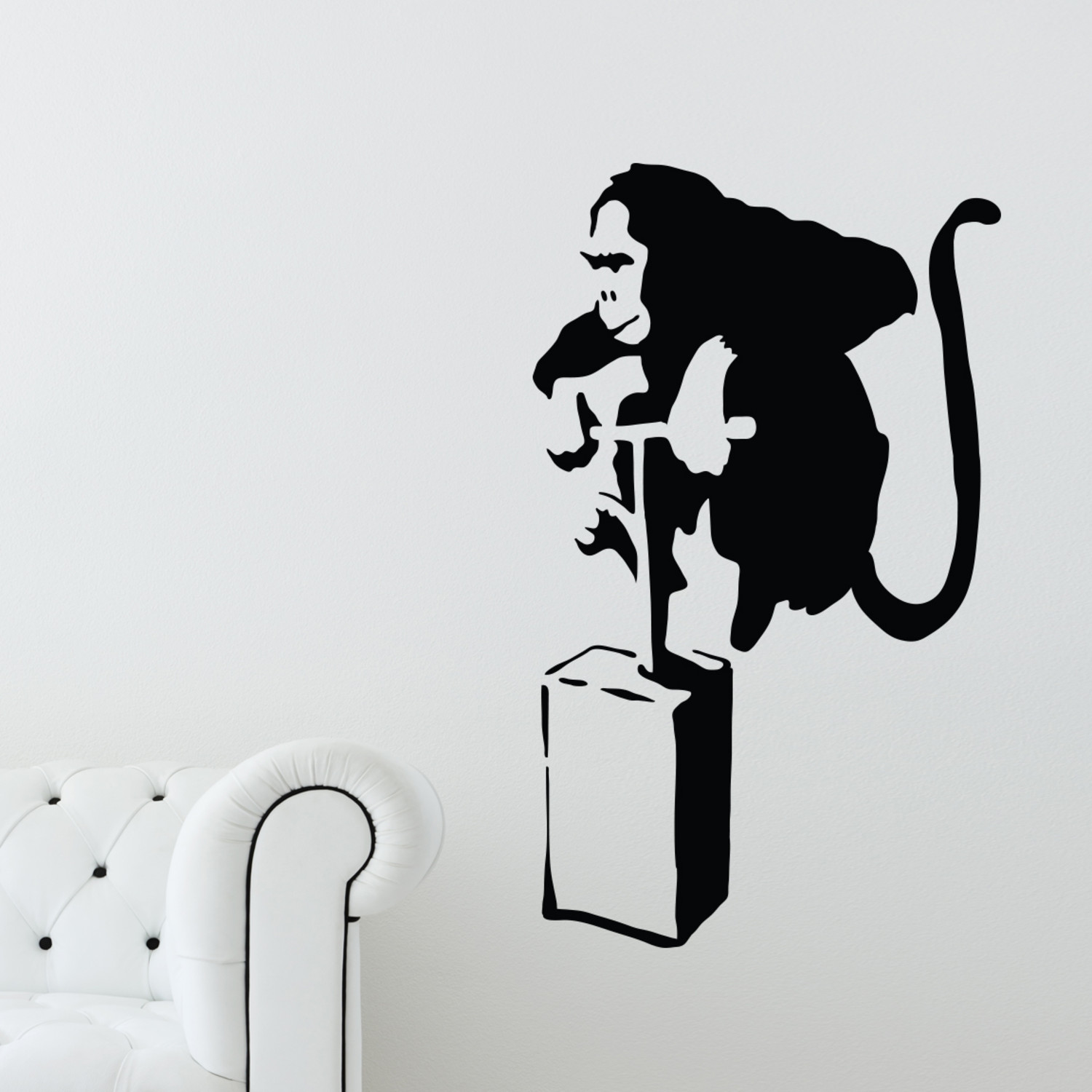 banksy exploding monkey walls need love touch of modern. Black Bedroom Furniture Sets. Home Design Ideas
