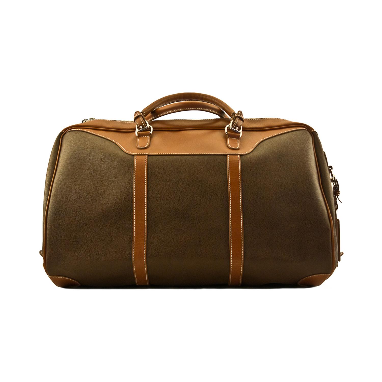 2ccb4e1493ca Waxed Canvas Medium Hippo Duffel - Mulholland Leather Goods - Touch ...