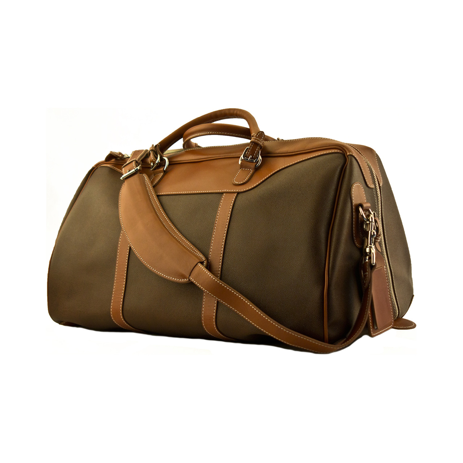 2ccb4e1493ca Waxed Canvas Medium Hippo Duffel - Mulholland Leather Goods - Touch ...