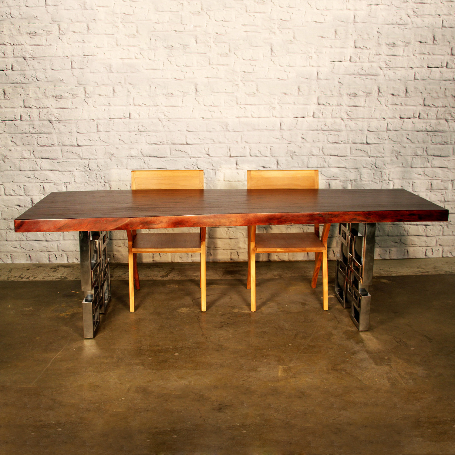 Cubic Cherry Dining Table Indo Modern