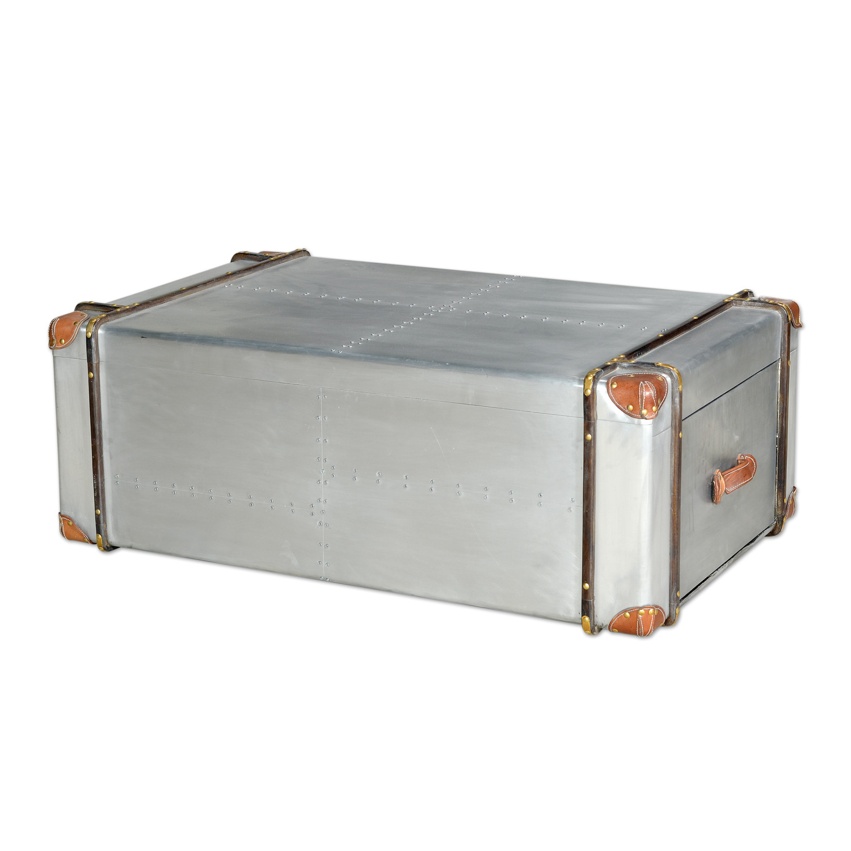 Aero Metal Finish Trunk // Coffee Table