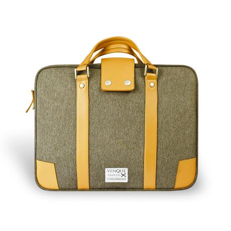 Hamptons Briefcase // Brown