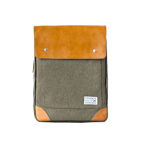Flatsquare Backpack // Brown