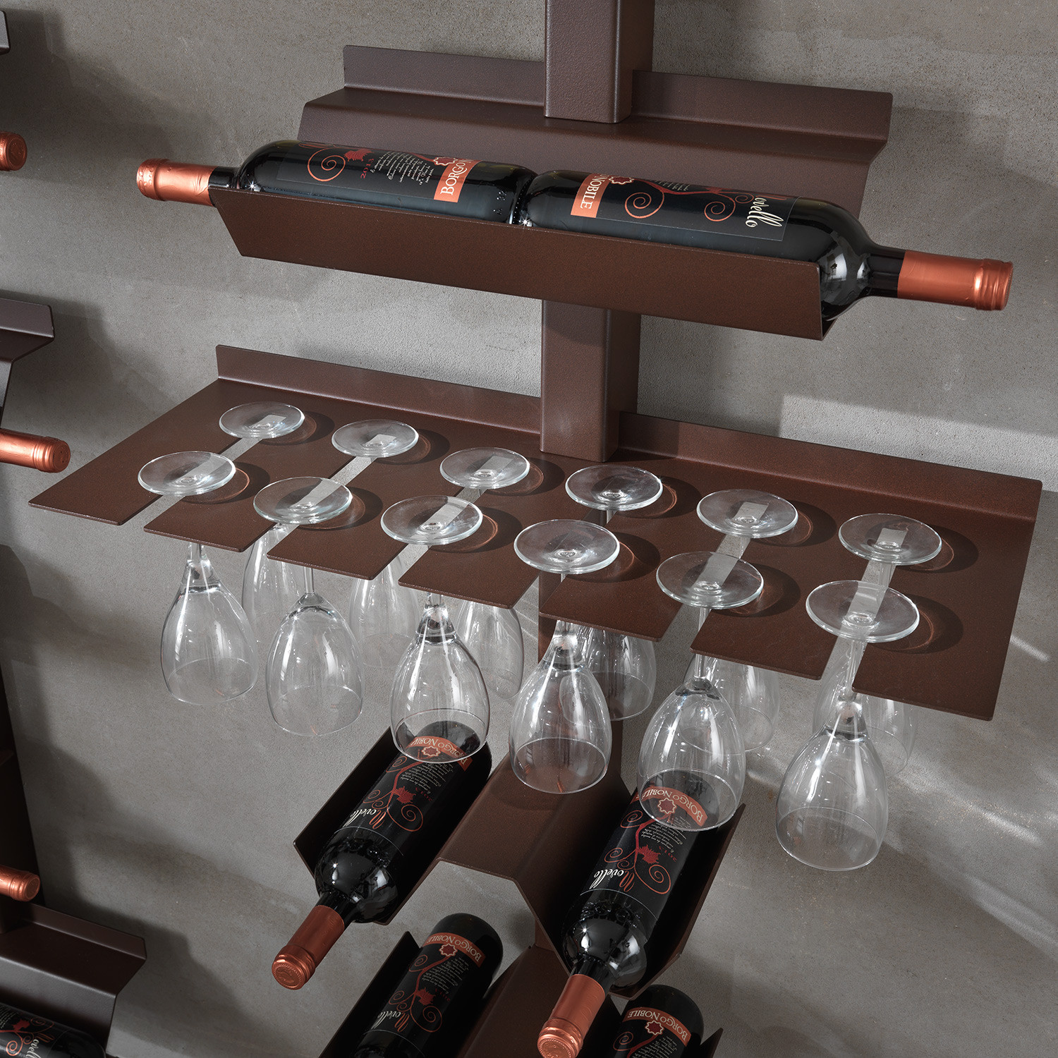 Dionisio Wine Bottle And Glass Rack Arche Italia Touch Of Modern