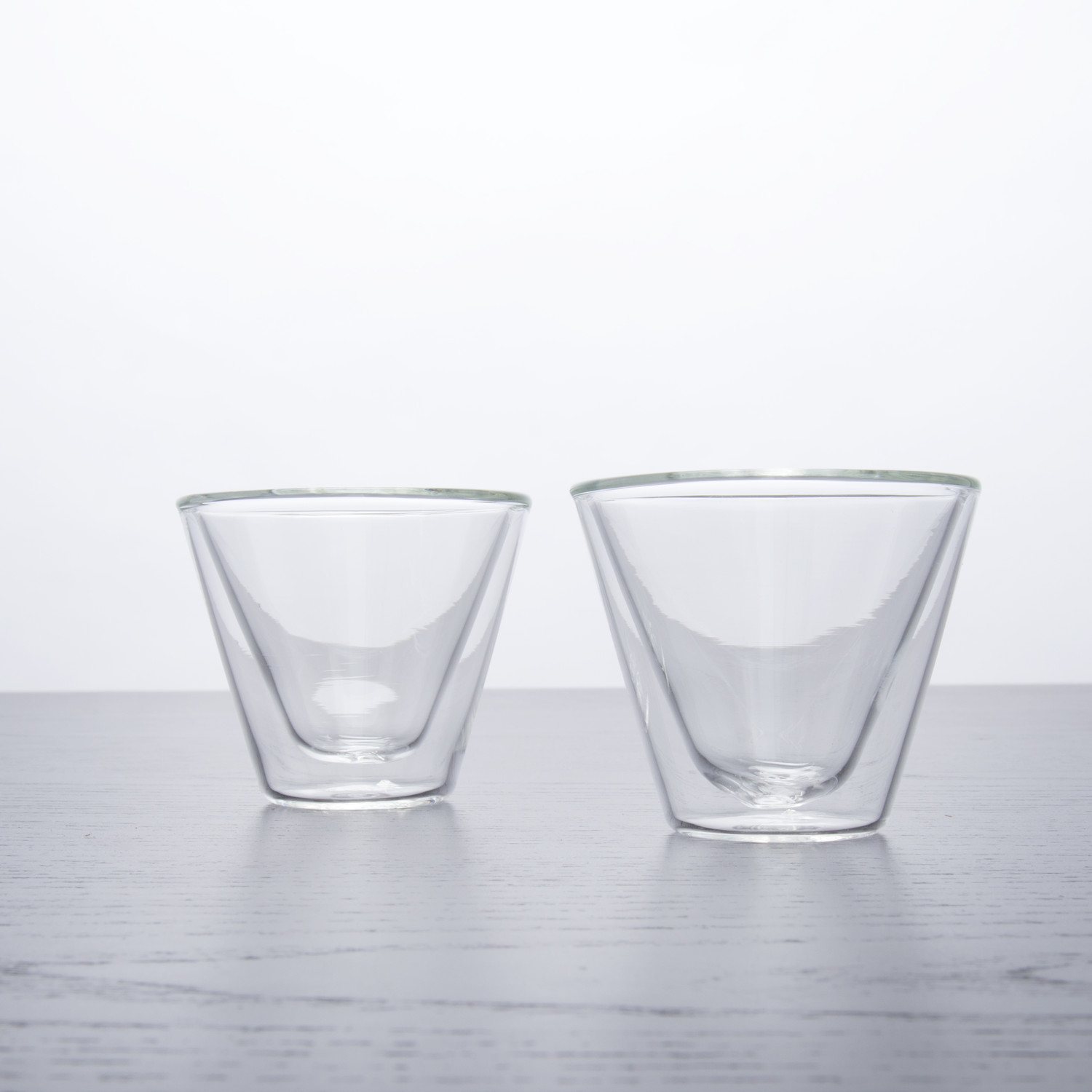 double wall shot glasses  oz set of   tryeh  touch of modern - double wall shot glasses  oz set of