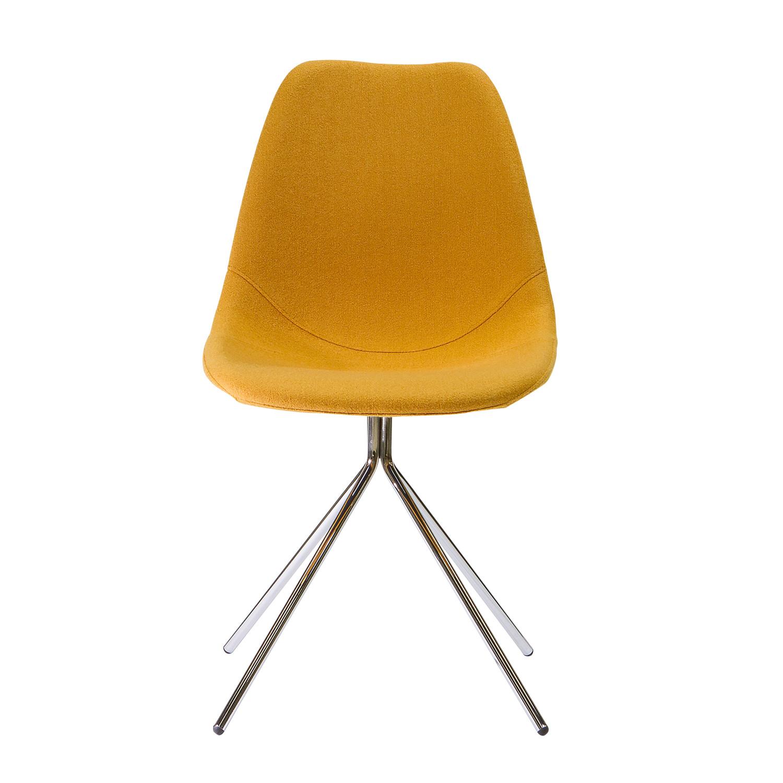 ARTIKA Wool Dining Chairs Set of 4 Yellow ARTIKA A Kanto