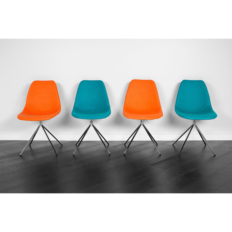 ARTIKA Wool Dining Chairs // Set Of 2 Orange U0026 2 Teal (ARTIKA A Part 70
