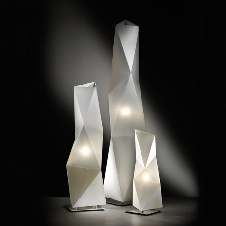 Diamond Floor Lamp // White (Large)