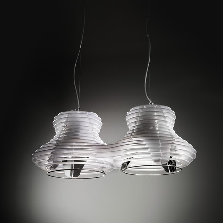 Faretto Suspension Lamp // Double (White + Silver)