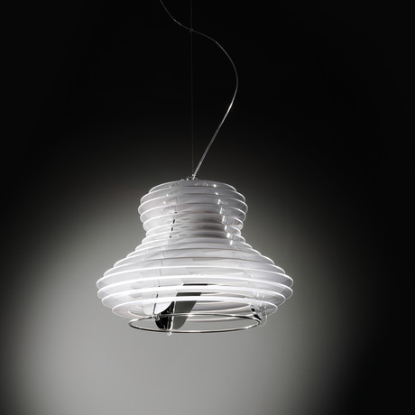 Faretto Suspension Lamp // Single (White + Silver)