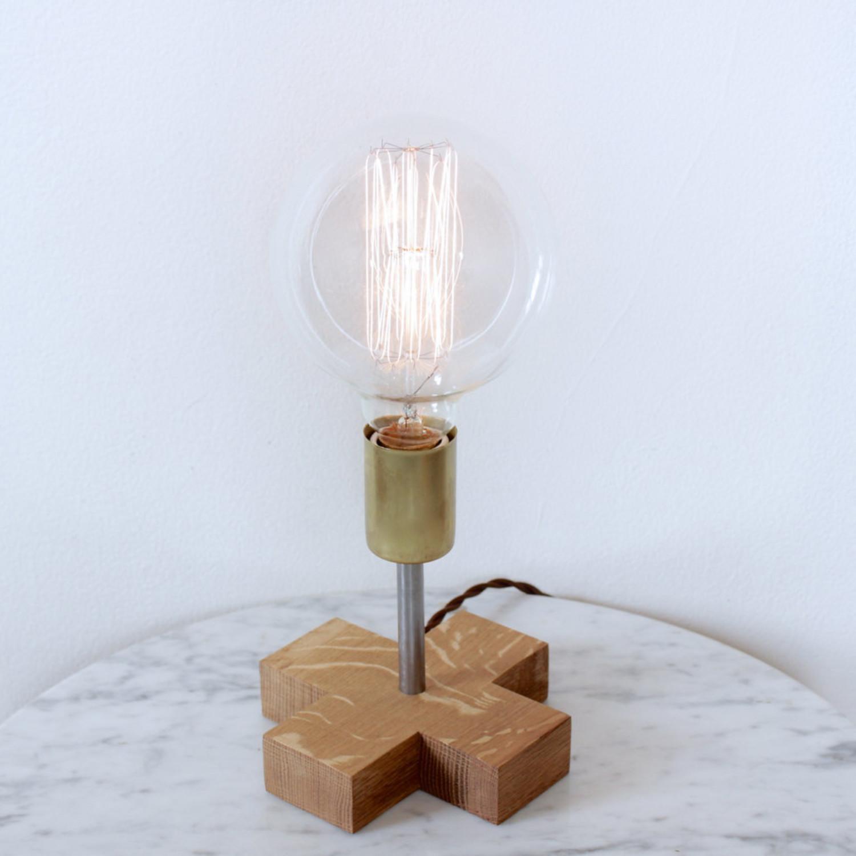 Leggy bull lamp oak cord red ninoshea design