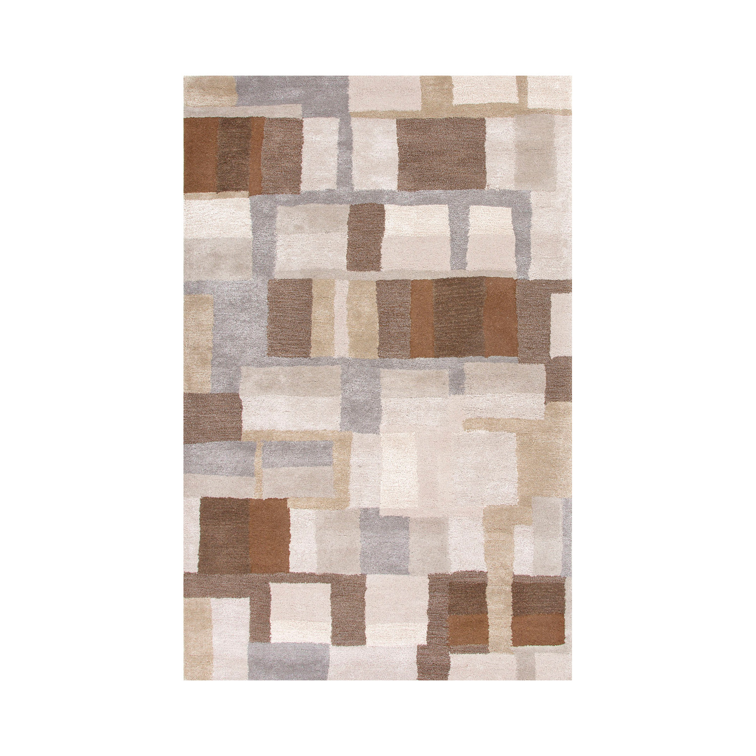 Blue area rug silk gray brown jaipur rugs touch for Grey and tan rug