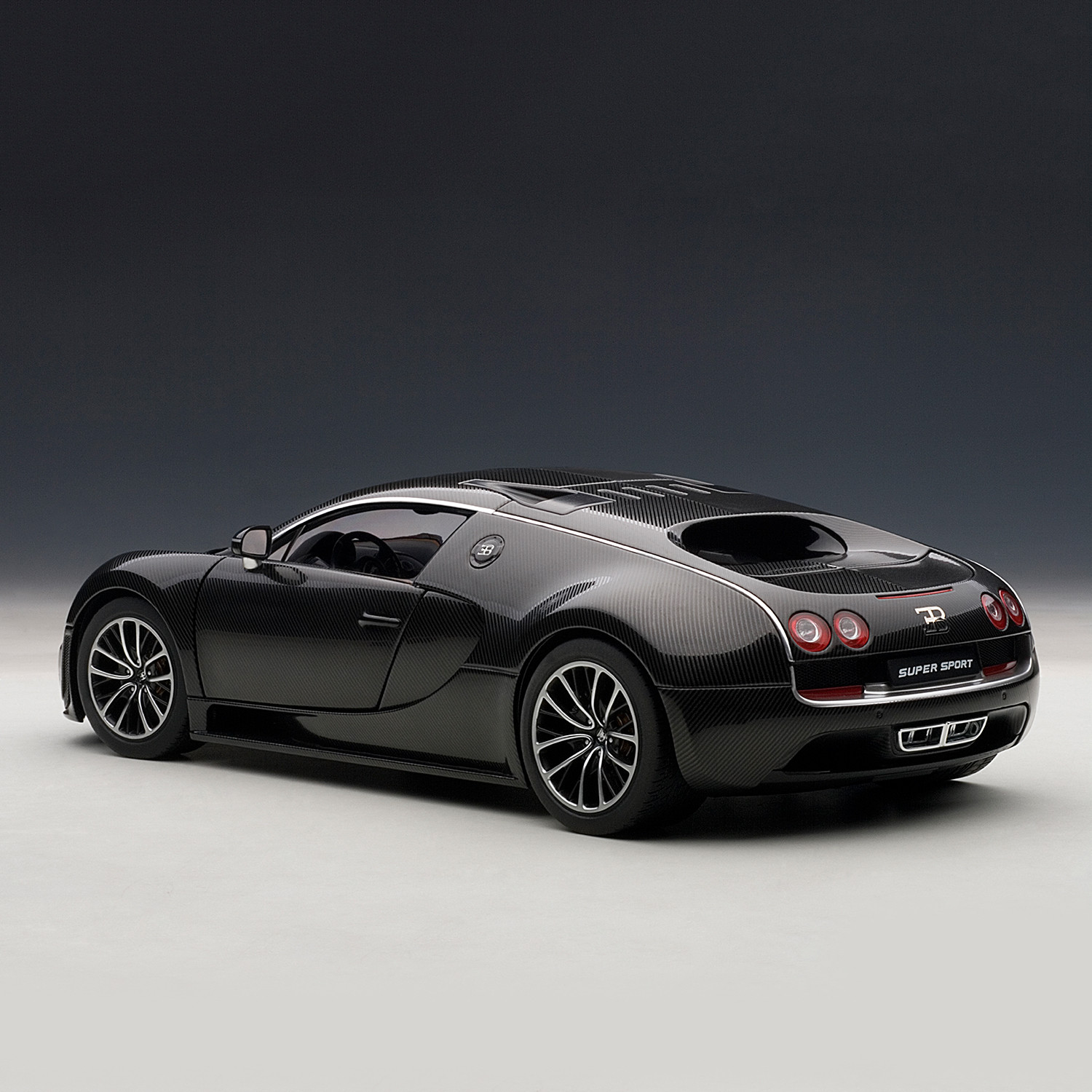 bugatti veyron super sport black orange auto art touch of modern. Black Bedroom Furniture Sets. Home Design Ideas