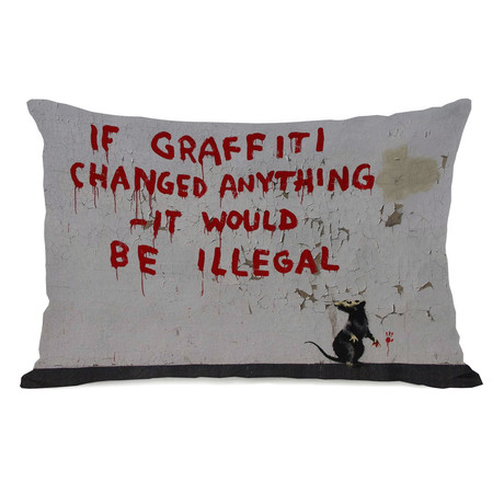 Graffiti Illegal // Pillow