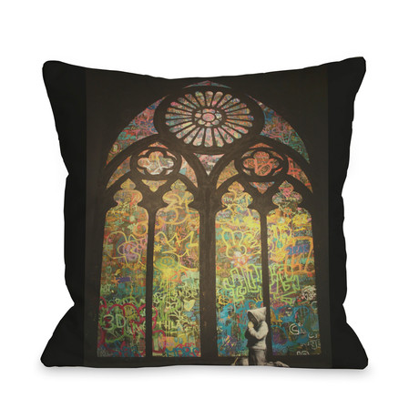 Stained Glass Graffiti // Pillow