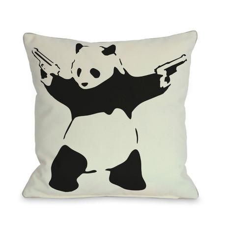 """Panda // Pillow (18""""L x 18""""W)"""