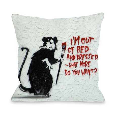 Rat Out of Bed // Pillow