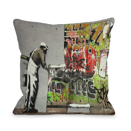 Banksy Pillows + Bedding - Street Art at Home - Touch of Modern