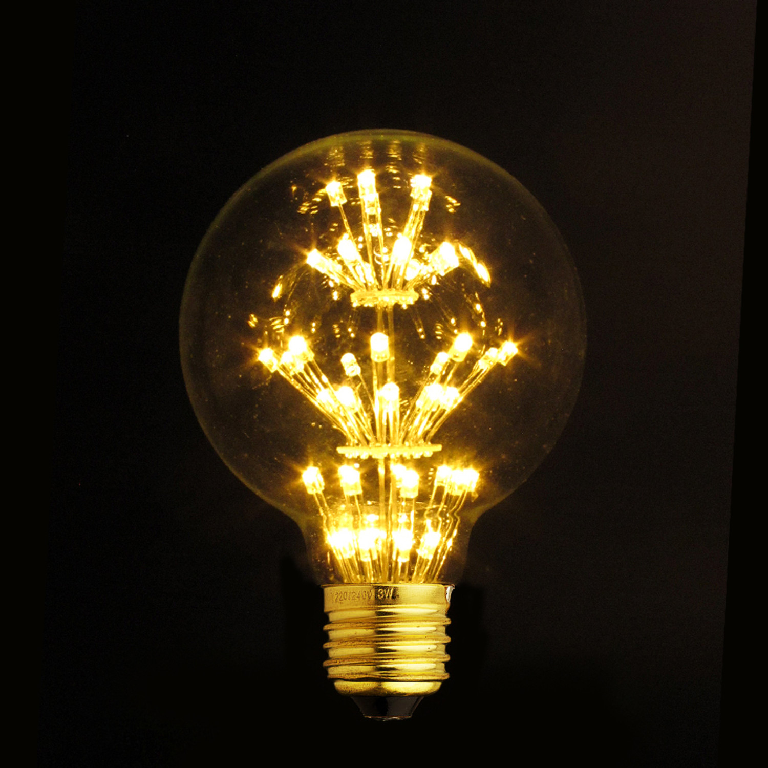 E27 Led Edison Fireworks Light Bulb Type G Light With Shade Led Edison Bulbs Touch Of Modern
