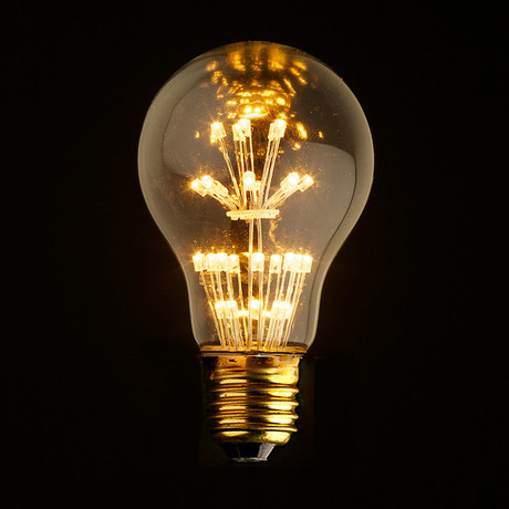 E27 LED Edison Fireworks Light Bulb // Type A