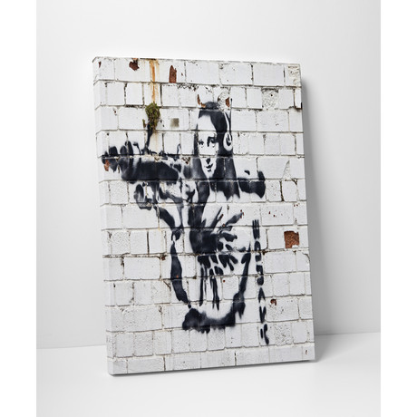 "Mona Lisa With Bazooka (16""W x 20""H)"