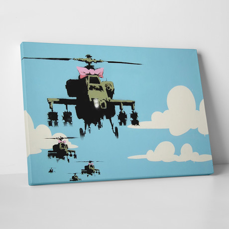 "Helicopters With A Bow (20""L x 16""H)"