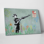 "Boy With Machine Gun (20""W x 16""H)"