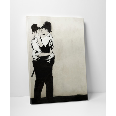 "Kissing Cops (16""W x 20""H)"