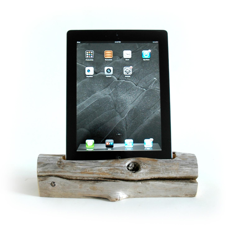 driftwood docking station tablet ipad 2 3 docksmith touch of modern. Black Bedroom Furniture Sets. Home Design Ideas