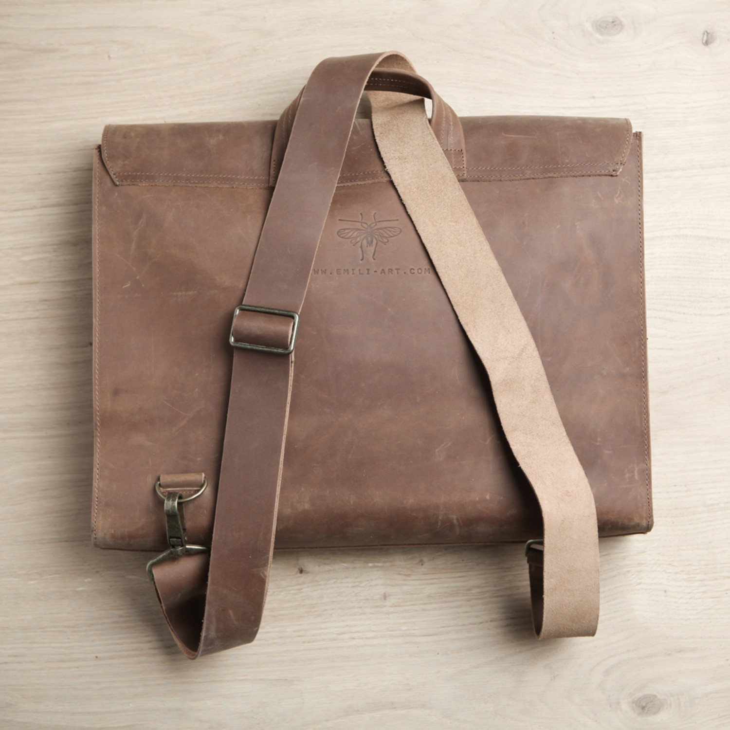 Inviting Modern And Sustainable C House By Studio Arthur: Satchel Bag // Tan Brown