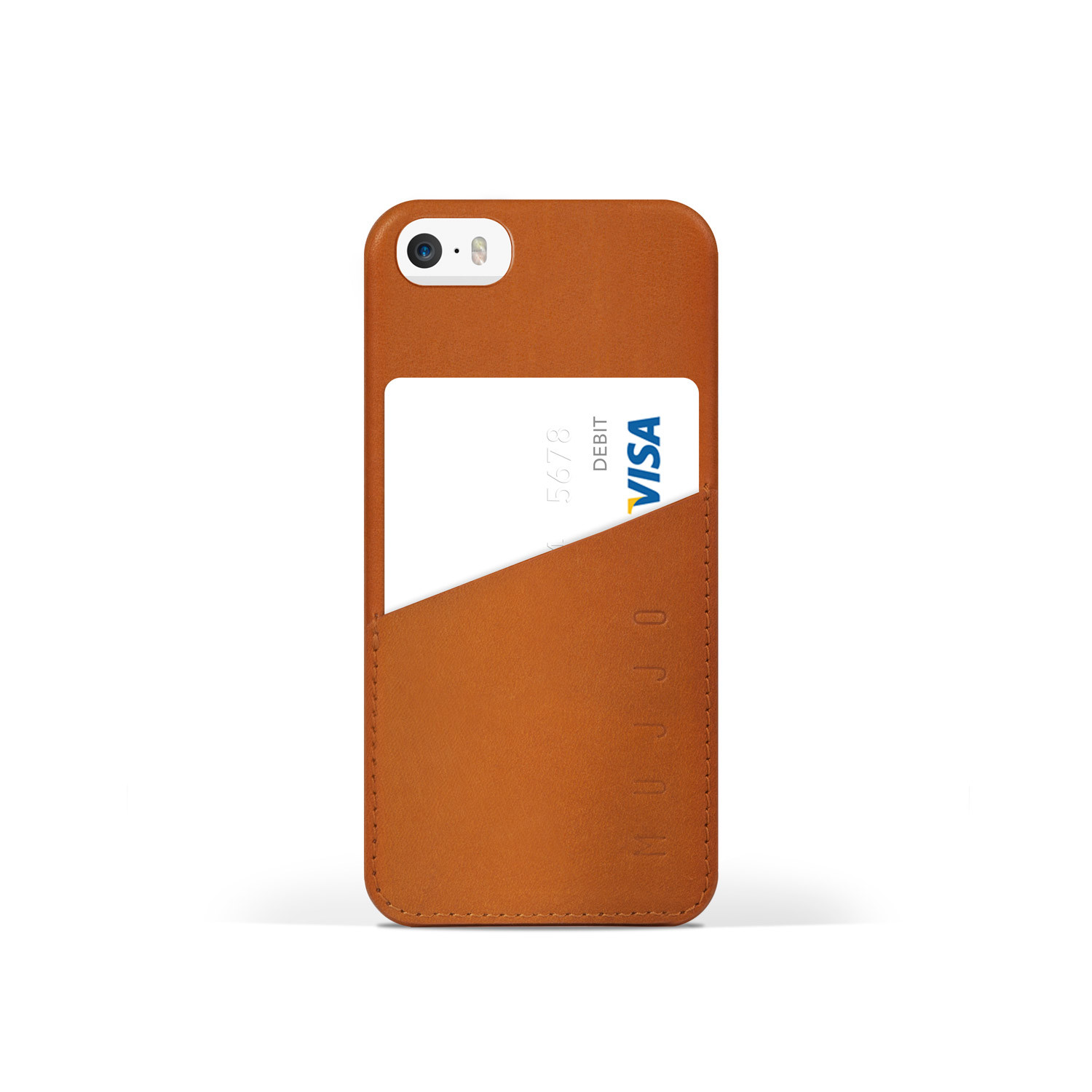 buy online fb8db 614d9 Leather iPhone 5/5S Wallet Case (Tan) - Mujjo - Touch of Modern