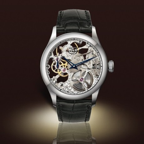 Skeleton Watch // Silver Movement + Silver Dial Ring