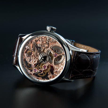 Skeleton Watch // Rose Movement + Silver Dial Ring