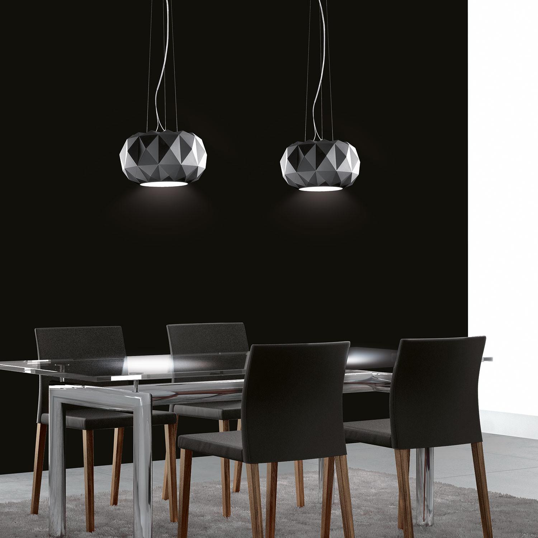 deluxe 50s satin black leucos lighting touch of modern. Black Bedroom Furniture Sets. Home Design Ideas
